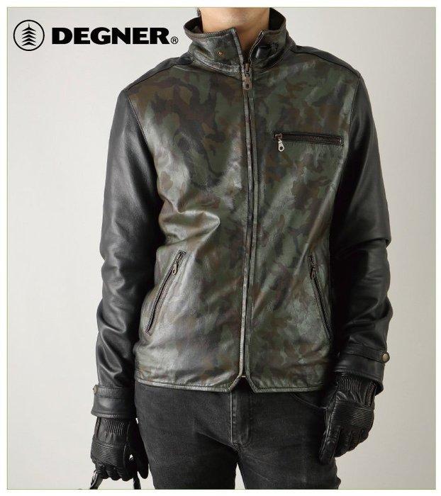 【趴趴騎士】DEGNER RACJ-31 迷彩皮革防摔衣 皮衣 (輕量化 羊皮 夾克 外套