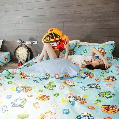 被套 / 雙人【波力救援小英雄-藍】韓國可愛卡通,磨毛多工法處理,戀家小舖台灣製M02-ABF202