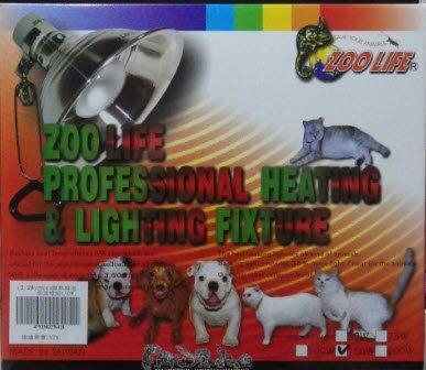 【貝多樂】ZOOLIFE 陶瓷鋁合金製燈罩 L + 含UVA聚熱燈泡 200W 套組 一年保固期(寵物保暖燈取暖用