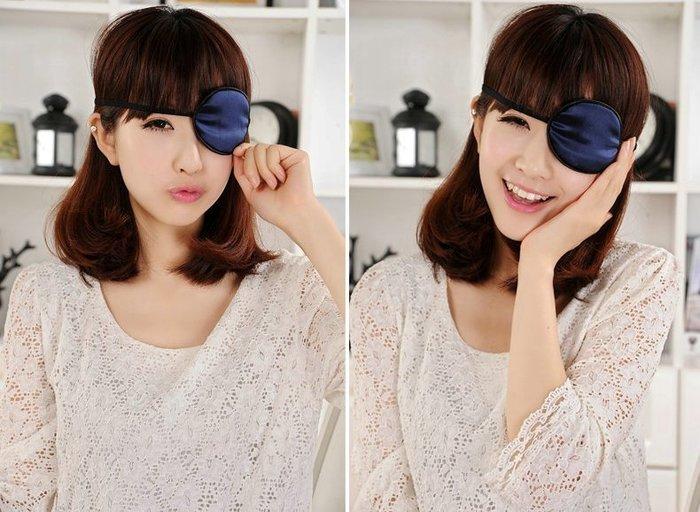【 RosePink蠶絲眼罩】兒童成人皆可用 100%蠶絲眼罩 弱視矯正 獨眼單眼全遮蓋眼罩 特價品 COSPLAY