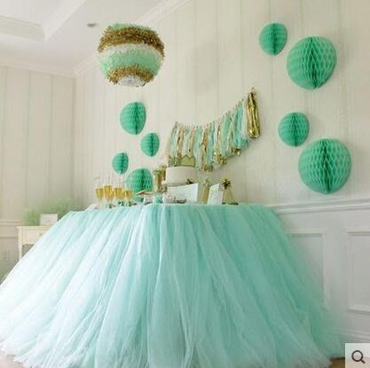 紗桌裙生日派對美國紗布置桌布寶寶椅裝飾桌圍裙甜臺童椅紗