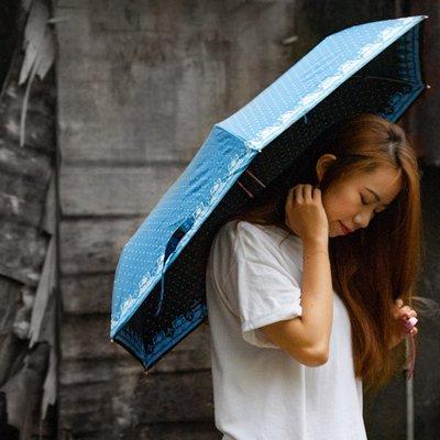 雙龍TDN 玫瑰金超防曬遮陽晴雨傘 折傘  降溫抗UV【FBB6504】