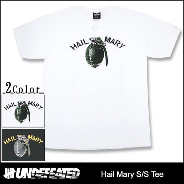 【 超搶手 】全新正品 2012 A/W 冬季新款 UNDEFEATED HAIL MARY TEE 黑色 S M L XL 白色 S M