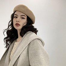 袁先生の家 2019冬春新款5色保暖貝雷帽洋氣藝術家帽子