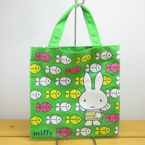 《散步生活雜貨》日本進口  MIFFY 米飛兔 北歐風 魚群 小提袋 外出小提袋 MFAP398