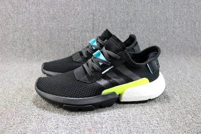 Adidas Originals POD-S3.1 黑白 百搭 網面透氣 休閒運動慢跑鞋 男女鞋 AQ1059