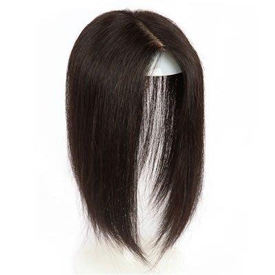 假 髮 片真髮絲-內網14x14cm直髮25cm輕薄女假髮73us32[獨家進口][米蘭精品]