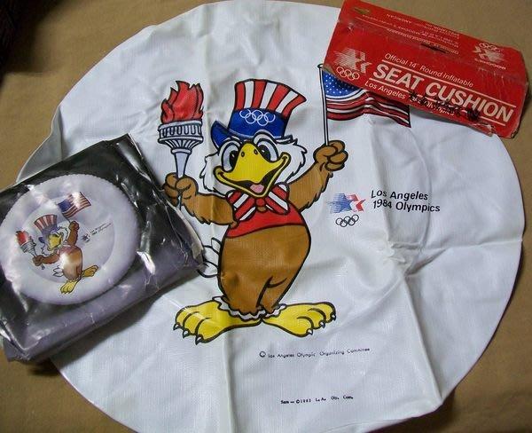 1984年 美國洛杉磯奧林匹克奧運紀念品 老鷹山姆 安全充氣飛盤