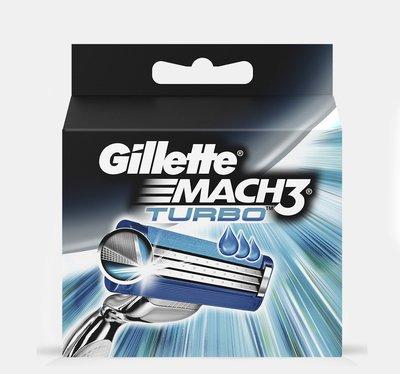 Gillette 吉列 Mach 3 Turbo 鋒速3突破 刮鬍刀片 四入 舒適