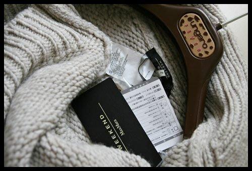 【MaxMara】WEEKEND oversize灰白色貝殼扣大翻領安哥拉小羊毛外套