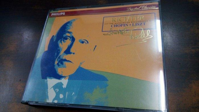 好音悅 半銀圈 Richter 李希特 Chopin 蕭邦 Liszt 李斯特 3CD Philips 德PMDC01版
