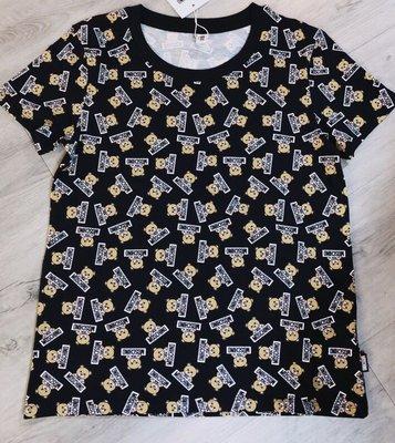 倪妮的店 MOSCHINO 滿版熊圓領短袖T恤XS正品保證