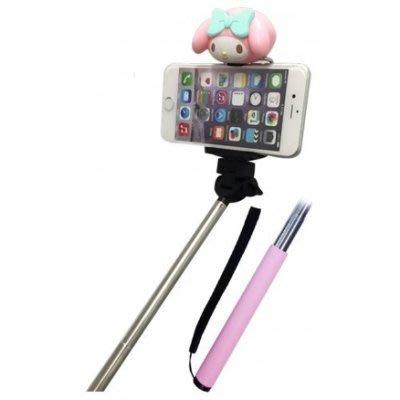 GIFT41 4165本通 新莊店 美樂蒂手機自拍造型棒 粉色