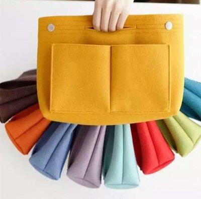羊毛氈包中包/袋中袋/ 立體分隔袋 LONGCHAMP LV Gucci適用 AnyBuy
