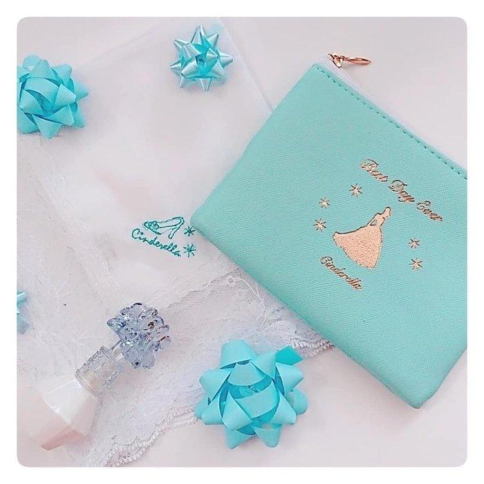 ☆Juicy☆日本雜誌附贈 DISNEY 迪士尼 仙履奇緣 灰姑娘 收納袋 化妝包 小物包 面紙包 紙巾包 2095
