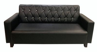 全新庫存家具賣場 二手家具推薦新竹地區免運SX807DA*全新3人座黑皮沙發*沙發椅 實木庫存家具批發 零碼家具拍賣