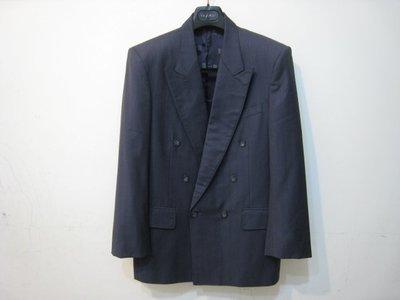 PIERRE BALMAIN 灰色 暗條紋 羊毛 西裝外套/44