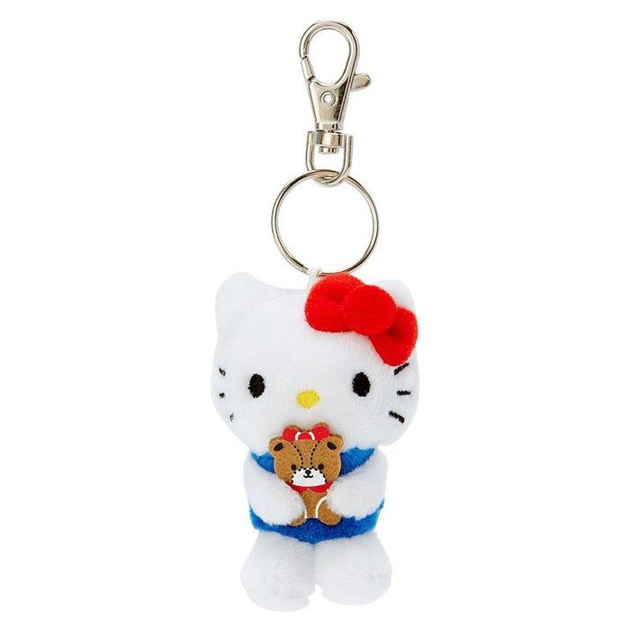 @雪花館@ 代購~正版Hello Kitty ♥ 抱小娃娃絨毛玩偶鑰匙圈掛飾