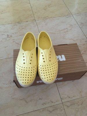 二手正版native 黃色 塑膠鞋