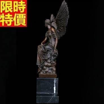 銅雕擺件 天使女神-歐式藝術收藏禮品雕塑工藝品66v35[獨家進口][巴黎精品]