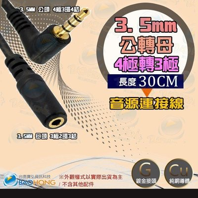 3.5MM 公對母音源線 90度公對母 4極3環4結公對2環3節母 音源延長線 30公分 台南PQS
