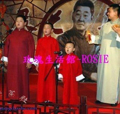 【玫瑰生活館】~~兒童相聲服~多色,深藍,淺藍, 淺灰,青灰, 大紅,暗紅,黑,白預購款