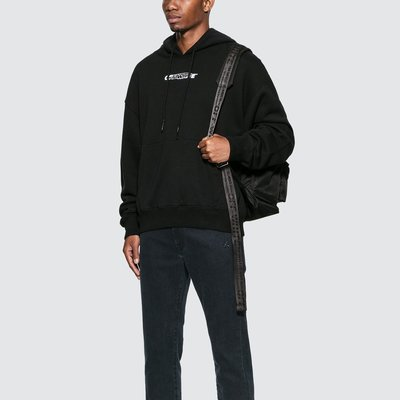 Off-White - Hand Painters Over Hoodie 男Logo印花帽T 折扣代購中