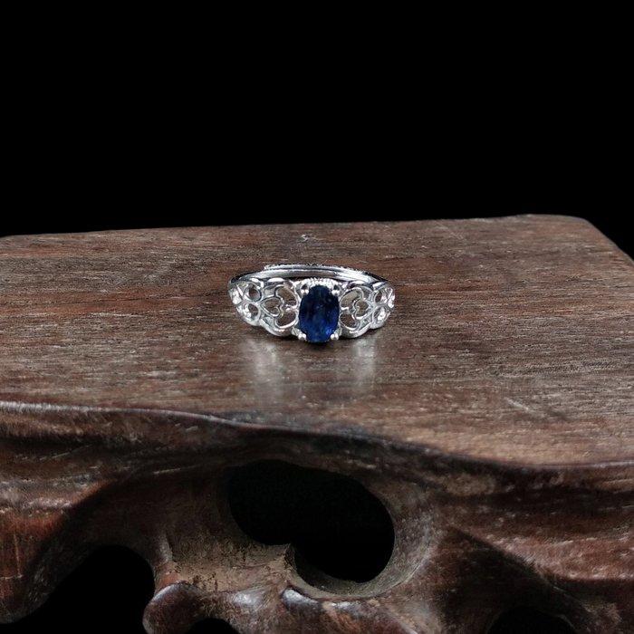 《博古珍藏》925純銀鑲藍寶石戒指.戒子飾品配件(皇冠款).求婚訂婚情人節禮盒禮物.附包裝盒.底價回饋