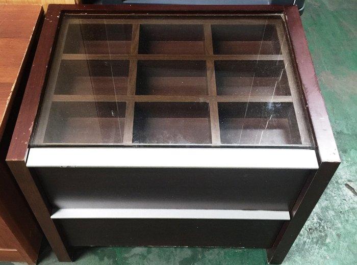 國際二手貨中心----- 方格簡約風格 二抽櫃 小型收納櫃 床頭矮櫃