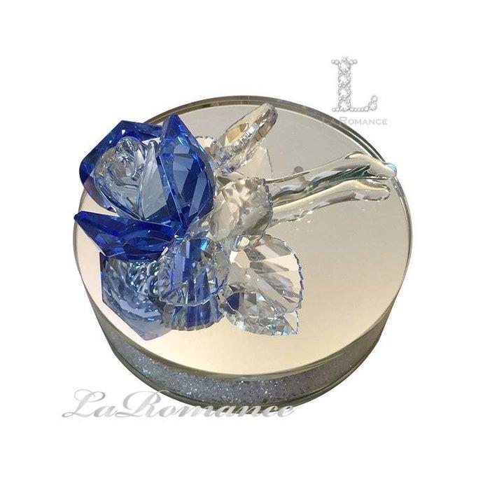 【芮洛蔓 La Romance】璀璨水晶 - 水晶藍玫瑰香水座 / 情人節 / 送禮