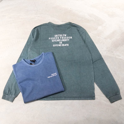 【車庫服飾 】 QUEST PURSUE FREEDOM WASH LS TEE 前小後大 水洗長T