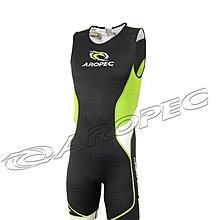 AROPEC Tri-Compress男款無袖短褲連身三鐵Lycra緊身衣 後開式 跑步/游泳/單車
