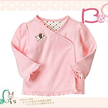 【B& G童裝】正品美國進口GYMBOREE 大象粉紅色雙層棉可兩面穿和式長袖上衣6-12m
