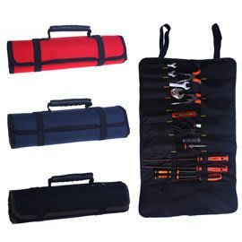 多功能捲筒式工具收納袋 野營工具袋 多功能五金工具 電信電工袋 大拉鍊袋 可收納零件 小物 螺絲-黑色