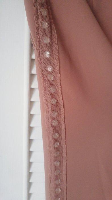 PHILOSOPHY DI ALBERTA FERRETTI 粉鮭魚色側邊珠花寬腿褲
