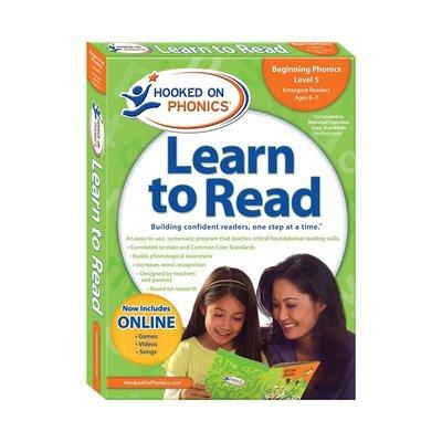 自然拼讀 迷上語音系列 學與讀初級L1 英文版 Hooked on Phonics Learn to Read Firs