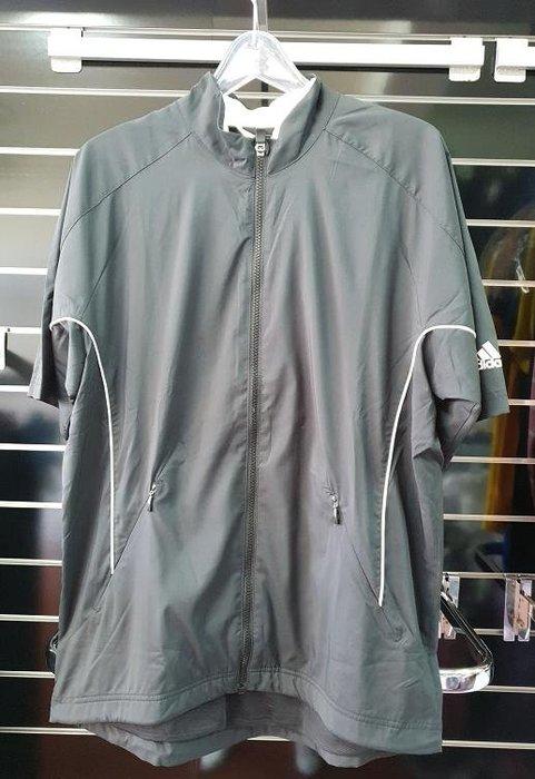 (易達高爾夫) 全新原廠ADIDAS P76014 黑色 男半袖風衣