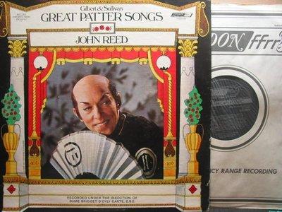 233*London*英國版黑膠唱片*John Reed –Gilbert & Sullivan: Great Patter Songs*NM