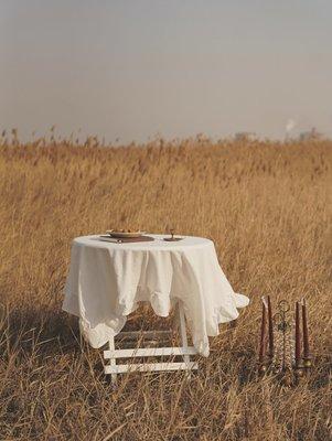 宏美飾品館~純棉花邊桌布 鄉村北歐美式圓桌戶外美食攝影野餐【二店道具鋪】