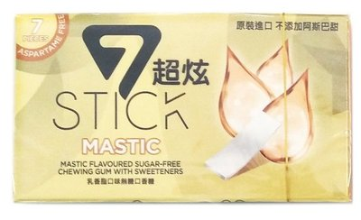 7STICK 超炫無糖口香糖 (乳香脂口味) 七片裝 不含阿斯巴甜 / 土耳其進口