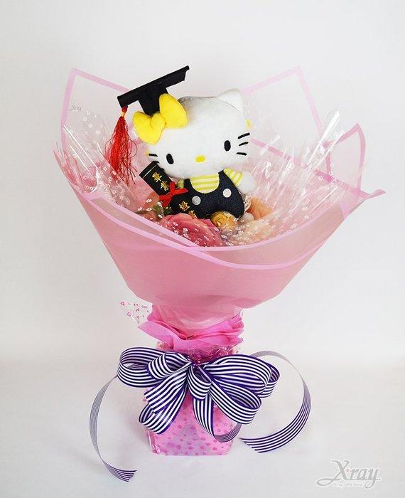 Hello Kitty 捧花,金莎捧花/花束/畢業花束/畢業典禮/求婚,節慶王【Y574234】