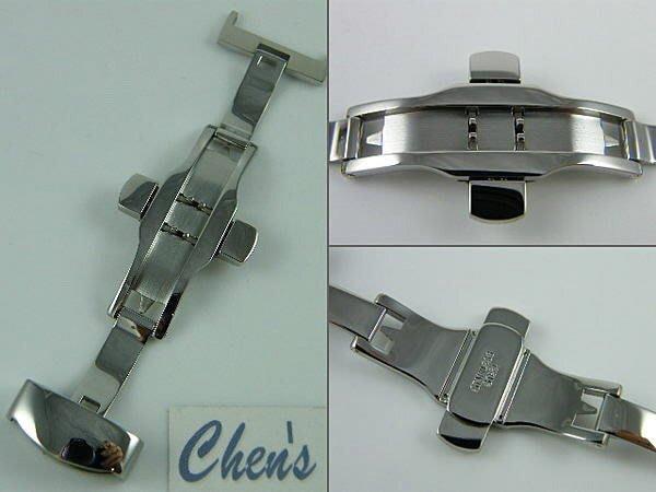 錶帶屋10mm12mm14mm16mm18mm20mm22mm24mm高品質不鏽鋼雙折疊扣 彈壓式 蝴蝶摺疊錶扣