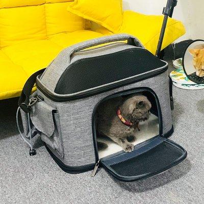 寵物包ostracod貓包外出便攜手提貓袋大號20斤車載貓窩狗包透氣寵物背包