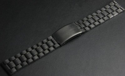 **22mm黑色真空離子電鍍sea master 海馬風格不鏽鋼製錶帶非烤漆,seiko, citizen, nixon