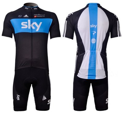 二套免運 車隊 黑白 短袖 自行車套裝 車衣 車褲  腳踏車衣 大尺碼 S~5XL s114