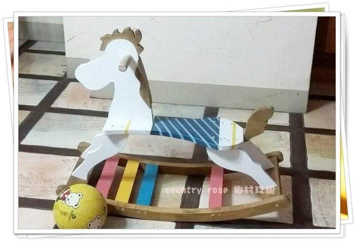 兒童木馬搖搖椅 搖搖馬/兒童玩具/木製玩具 【鄉村玫瑰】