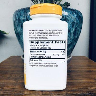 JadeDragon旗艦~美國Nature's Way Calcium Citrate 檸檬酸鈣 500mg 250粒