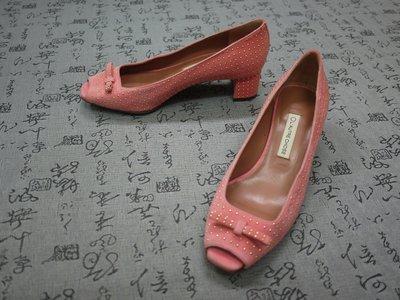 義大利製 L'AUTRE CHOSE 高級麂皮粗跟魚口鞋 EUR 35 USA 5.5 JPN 22.5