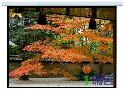 【愛瑪吉】台灣製 投影機 銀幕 手拉 壁掛式 蓆白 布幕 84x84 100吋 1:1 無接縫 四面黑邊