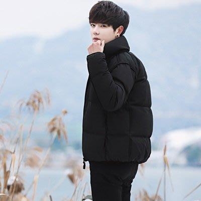 羽絨 外套 立領夾克-黑色短款加厚保暖男外套73un22[獨家進口][米蘭精品]